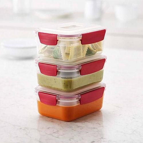 Набор контейнеров пищевых Joseph Joseph Nest красные, фото