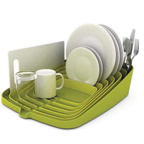 Подставка для посуды Joseph Joseph Arena Dish Drainer зеленая, фото