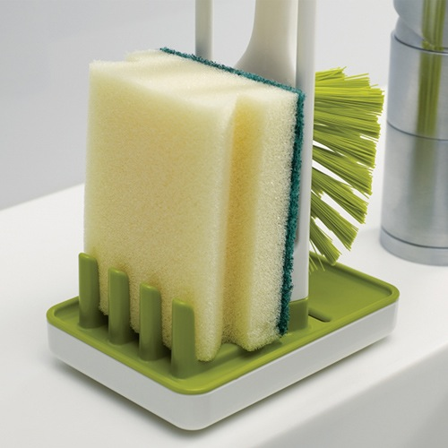 Щетка Joseph Joseph моющая с подставкой Edge зеленая, фото