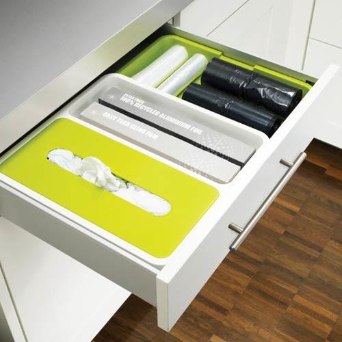 Органайзер для ящика Joseph Joseph Drawer Store белый с зеленым, фото