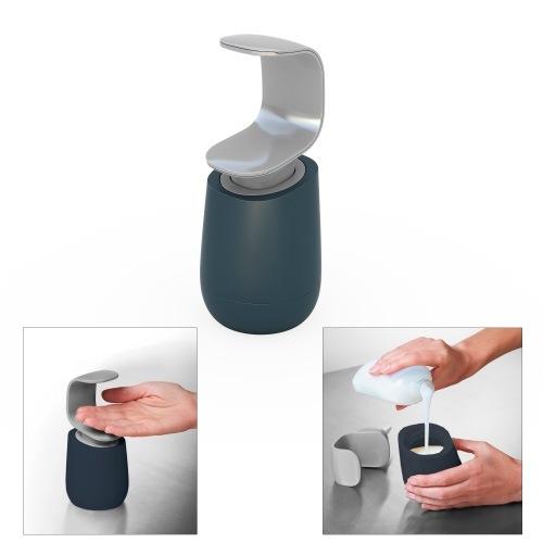 Емкость с дозатором Joseph Joseph C-pump серая для жидкого мыла, фото