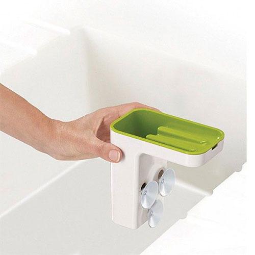Органайзер для мойки со сливом лишней жидкости Joseph Joseph Sink Pod зленый, фото