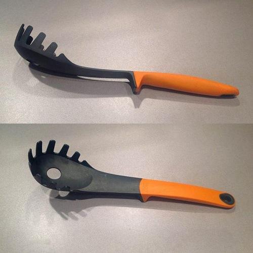 Ложка для спагетти Josepf Josepf Elevate с оранжевой ручкой, фото