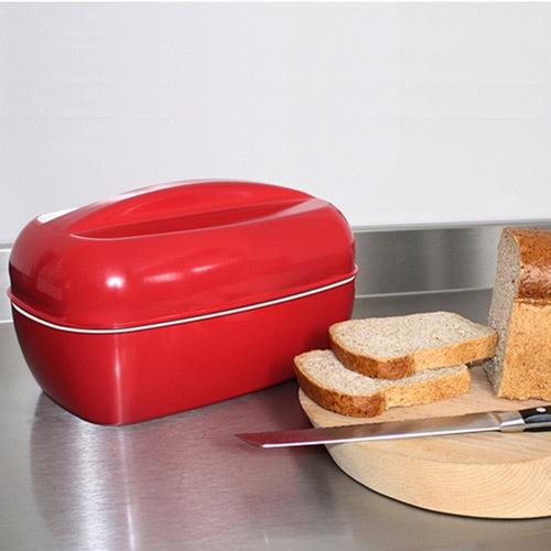 Хлебница Joseph Joseph Steel Bread Bin красная , фото