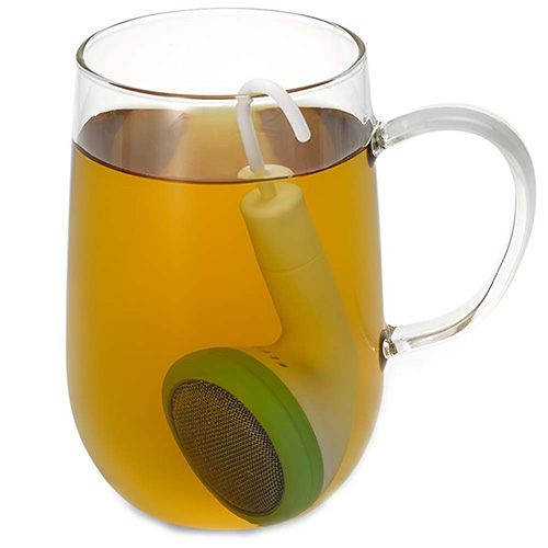 Заварник для чая PO Selected Earphone в зеленом цвете, фото