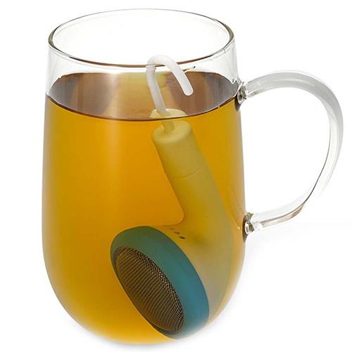 Заварник для чая PO Selected Earphone в голубом цвете, фото