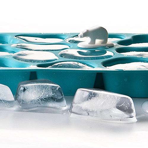 Форма для льда Qualy Polar Ice Tray голубого цвета, фото