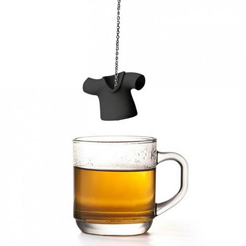 Заварник для чая Qualy Tea Shirt черного цвета, фото