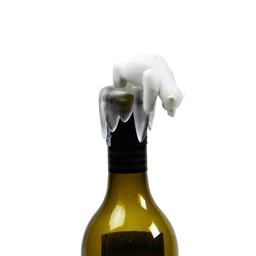 Стоппер для бутылки Qualy Bottoms Up Bear, фото