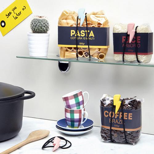 Набор резинок Rocket Flashy для хранения продуктов в пакетах, фото