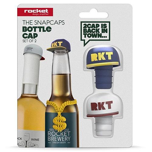 Набор стопперов для бутылок Rocket The Snapcaps, фото