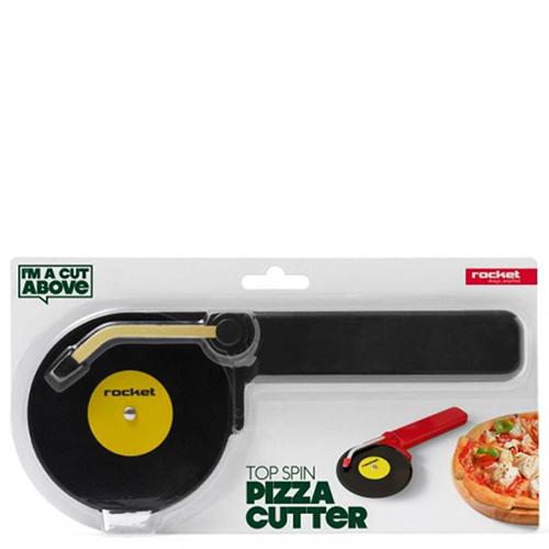 Нож для разрезания пиццы Rocket Top Spin черного цвета, фото