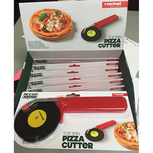 Нож для разрезания пиццы Rocket Top Spin красного цвета, фото