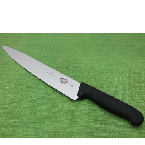 Нож Victorinox с серрейторным широким лезвием длиной 22 см, фото