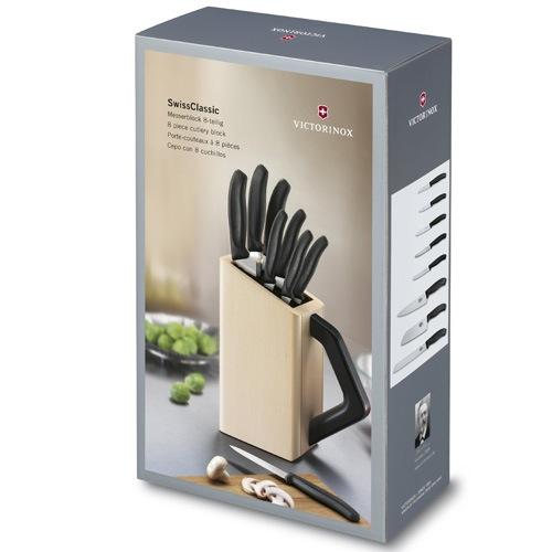 Набор Victorinox SwissClassic из 8 ножей в буковой подставке с ручкой, фото