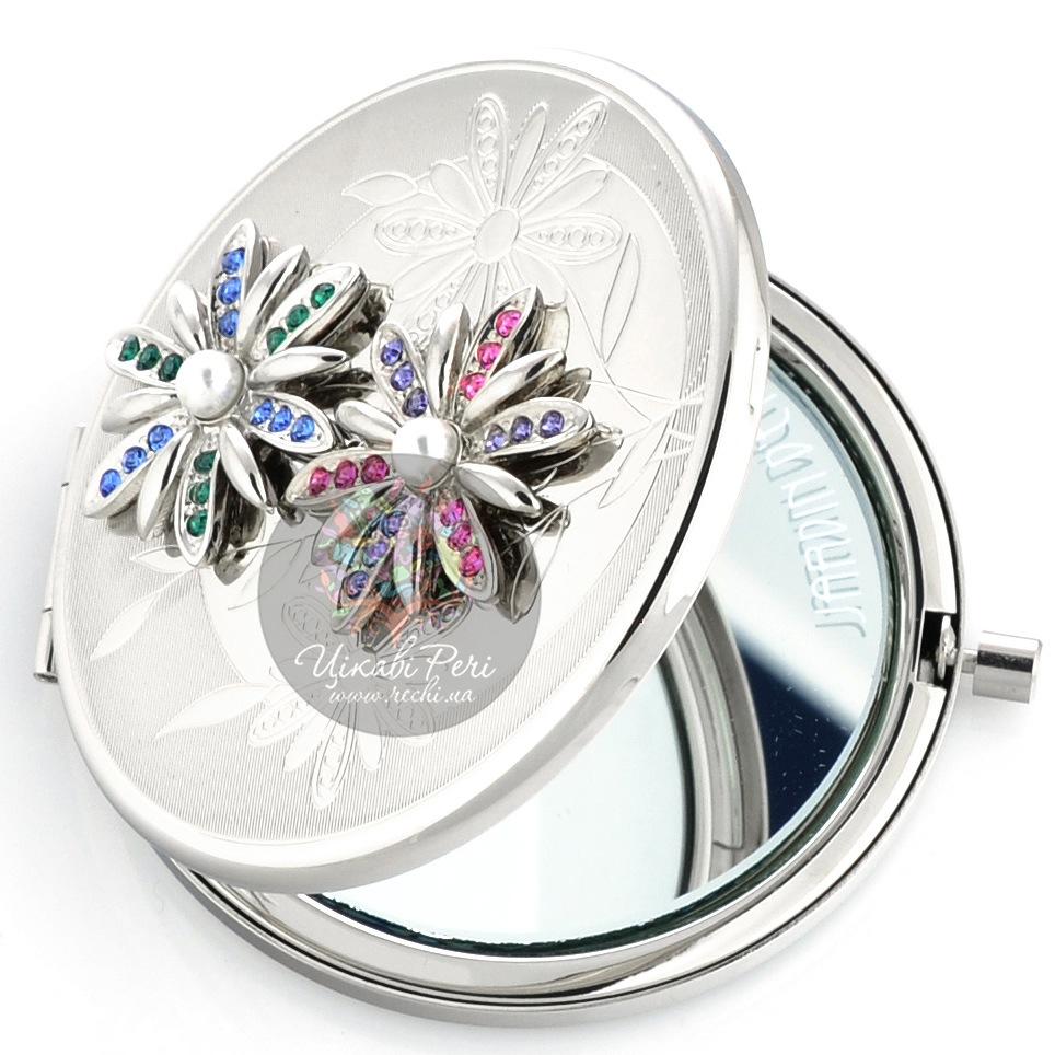 Зеркальце Jardin D ete со стразами Цветы