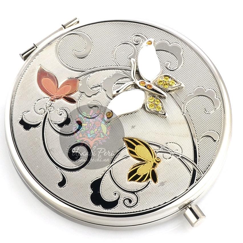 Зеркальце Jardin Dete Летний сад Три бабочки двойное круглое