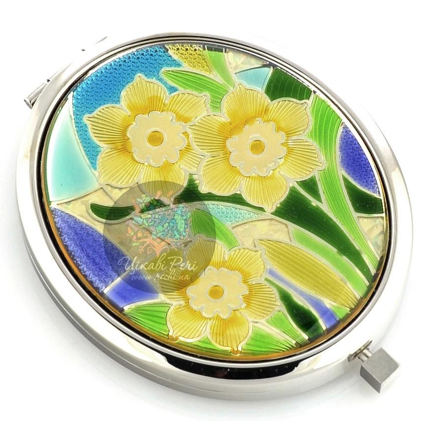 Зеркальце Jardin Dete коллекции Летний сад Цветы двойное овальное