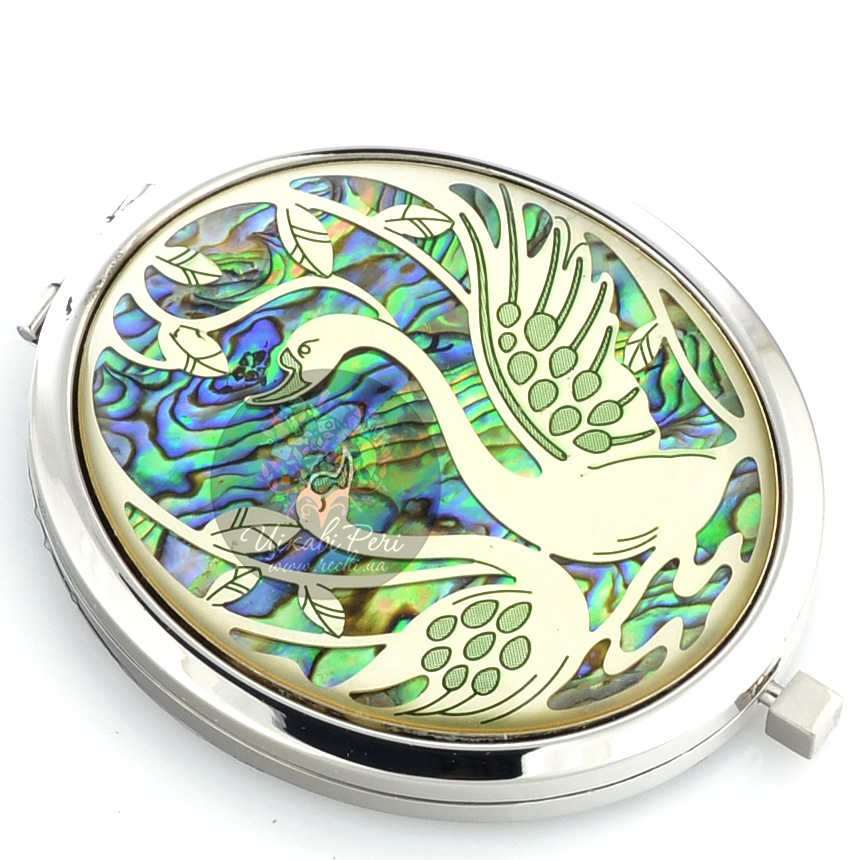 Зеркальце Jardin Dete Лебеди коллекции Летний сад двойное овальное