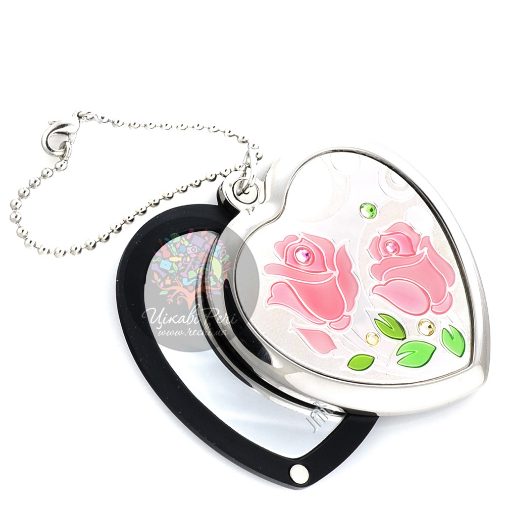 Зеркальце Jardin Dete Летний сад Роза на магните в форме сердца