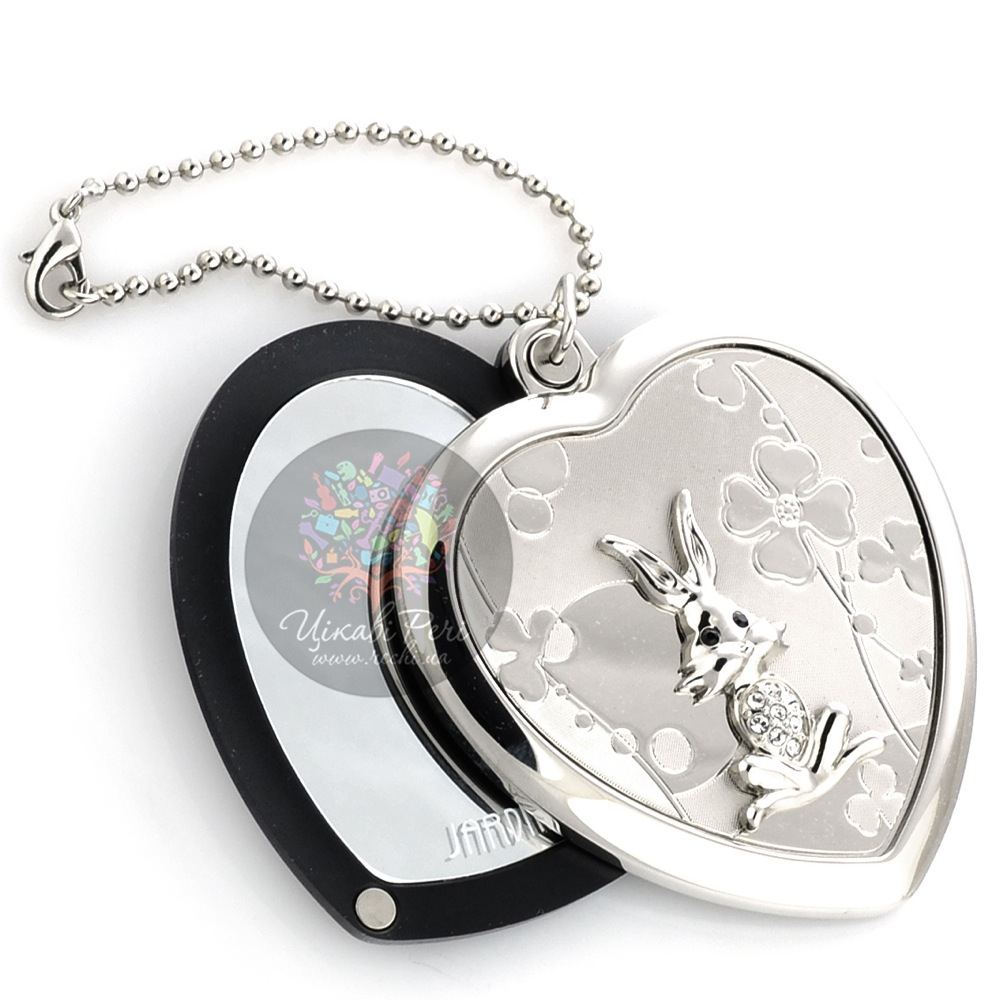 Зеркальце Jardin Dete Летний сад Кролик на магните в форме сердца