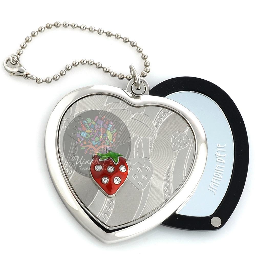 Зеркальце Jardin Dete Летний сад Клубника на магните в форме сердца