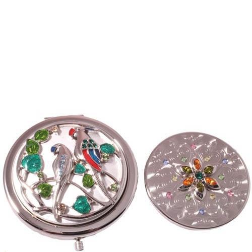 Зеркальце Jardin Dete со сменной панелью и рисунком в виде двух птиц