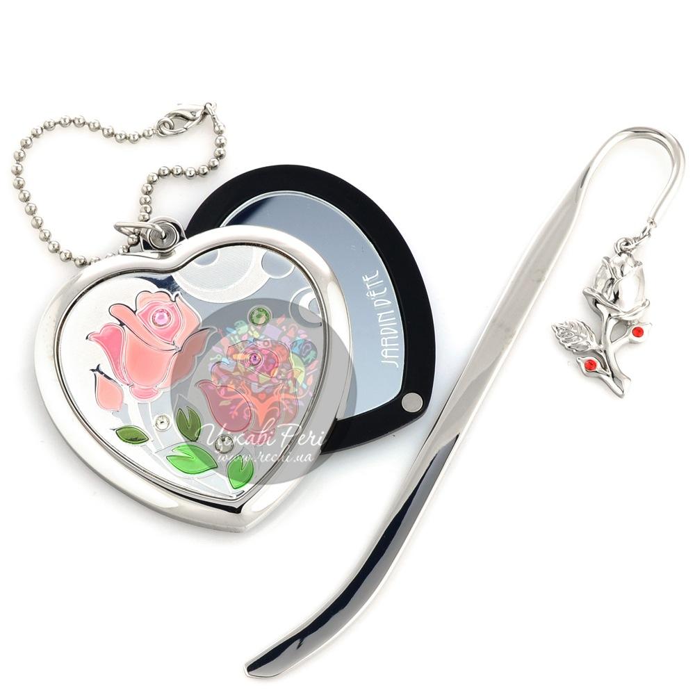 Набор Jardin Dete Летний сад Розы из зеркальца и закладки