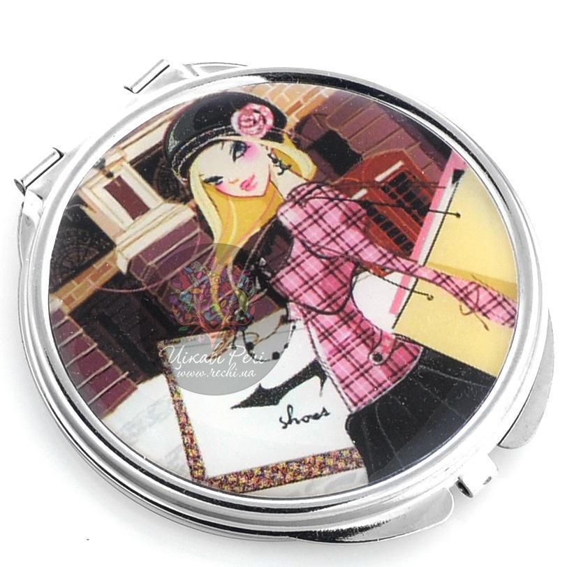 Зеркальце Jardin Dete Летний сад Модница двойное круглое