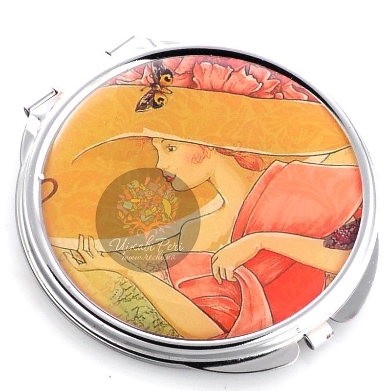 Зеркальце Jardin Dete Летний сад Дама в шляпе двойное круглое