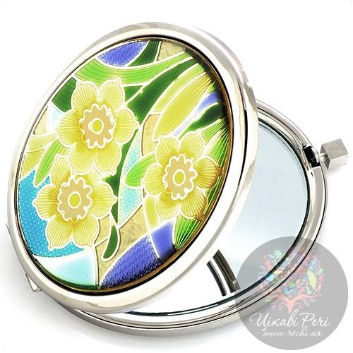 Зеркальце Jardin Dete коллекции Летний сад Цветы двойное овальное, фото