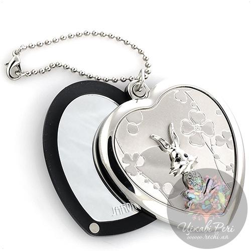 Зеркальце Jardin Dete Летний сад Кролик на магните в форме сердца, фото