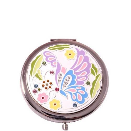 Зеркальце Jardin Dete со сменной панелью и рисунком бабочки, фото