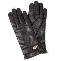 Черные женские перчатки Cavalli Class с металлическим декором, фото