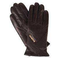 Женские перчатки Baldinini черные с металлическим логотипом, фото