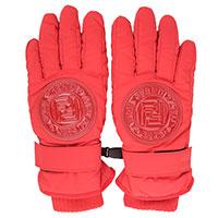 Красные перчатки Fendi с логотипом, фото