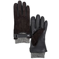 Мужские перчатки AMO Accessori из коричневой замши и кожи, фото