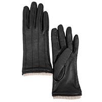 Женские перчатки AMO Accessori с декоративной строчкой, фото
