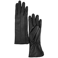 Длинные женские перчатки AMO Accessori черного цвета, фото
