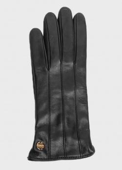 Женские перчатки Coccinelle из черной кожи, фото