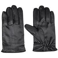 Мужские перчатки Emporio Armani из гладкой черной кожи, фото