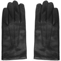 Кожаные перчатка Emporio Armani черного цвета, фото