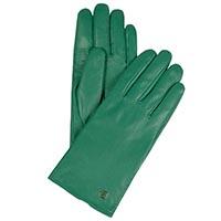 Зеленые кожаные перчатки Piquadro Guanti размера S, фото