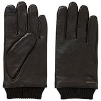 Перчатки из кожи Hugo Boss с трикотажным манжетом, фото