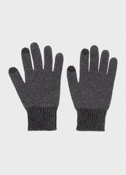 Мужские перчатки Kenzo серого цвета, фото