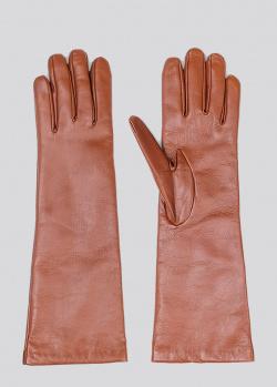 Светло-коричневые высокие перчатки Max Mara Weekend, фото