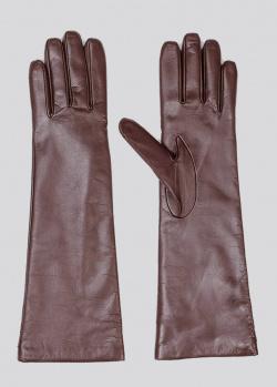 Высокие перчатки Max Mara Weekend коричневого цвета, фото