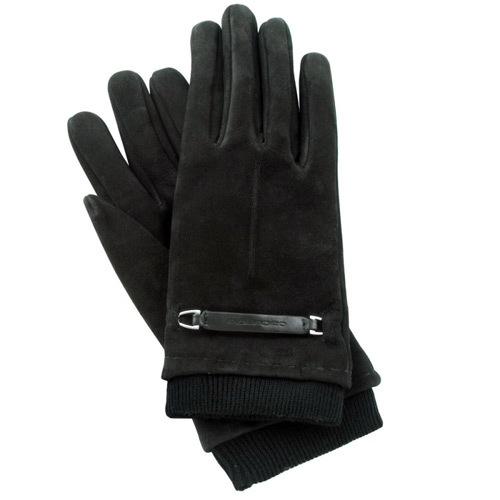 Замшевые перчатки с нейлоновой вставкой Guanti (размер L), фото