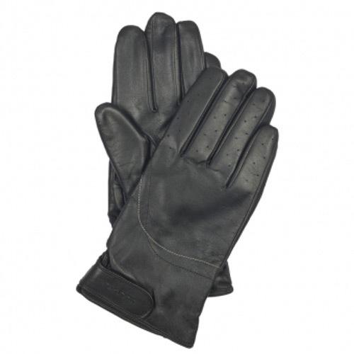 Мужские кожаные перчатки с регулируемым запястьем черные Piquadro Guanti (размер M), фото
