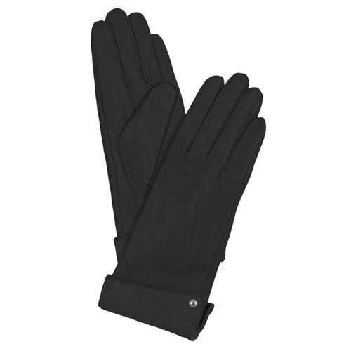 Женские кожаные перчатки черные Guanti (размер M), фото